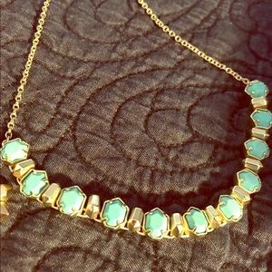 Kendra Scott Tammy Turquoise & Gold Necklace